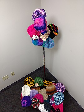 Display of Hats and Socks Received