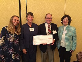 Receiving Grant Check